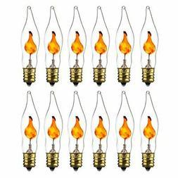 Sunlite 01506-SU Petite Chandelier Flicker Flame Light Bulb