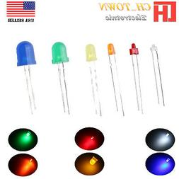 1.8mm 2mm 3mm 5mm 8mm 10mm LED Diffused White Red Blue Light