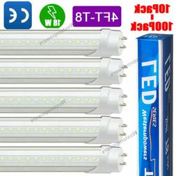 10-100 Pack 18W 48 inch 4ft LED Fluorescent Tube Light Bulb