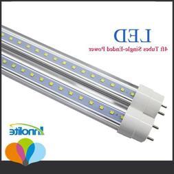 10-100 Pack 18W 4Ft Bulbs White 6000K LED T8 Fluorescent Tub