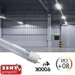 25 PACK LED G13 4FT 4 Foot T8 Tube Light Bulbs 18W 6500K Cle