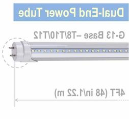 10/25pcs 4ft T8 LED Tube Clear Cover 4000K 6000K Fluorescent