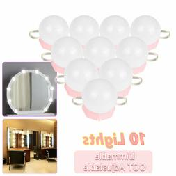 10 Bulbs Dimmable LED Mirror Light Vanity Hollywood Style Dr