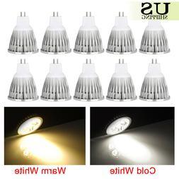 10 Pack 6W 9W 12W MR16 LED Light Bulbs AC DC 12V Spot Light