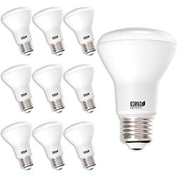 Sunco Lighting 10 Pack BR20 LED Bulb, 7W=50W, Dimmable, 2700