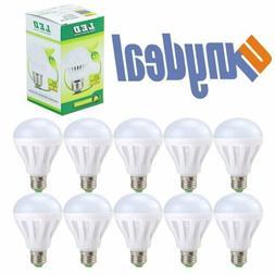 10 PACK LED 60W = 9W Soft White 60 Watt Equivalent E27 6500K