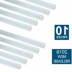 """10 PACK LED G13 4FT 48"""" T8 Tube Light Bulbs 18W 5000K Stri"""