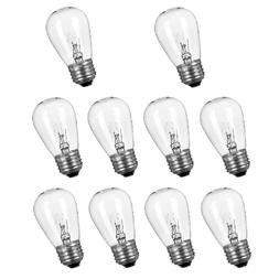 10 Pack Replacement Light Bulbs for Outdoor String Lights 11
