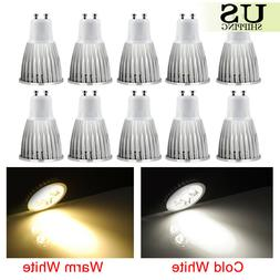 10 Pack Ultra Bright GU10 LED Non-Dimmable Lamp 6W 9W 12W Sp