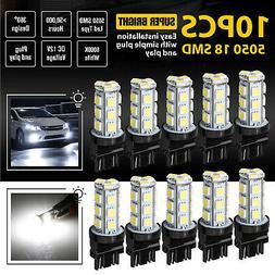 10 PCS 3157 3156 18SMD Reverse Brake/Stop/Turn Tail Back Up