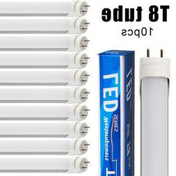 10 Pcs 4 Foot T8 Bulbs 18W LED Tube Light Lamp Double-End In