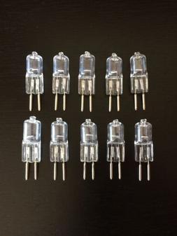 10 Pk JC BI PIN  G6.35 Halogen Light Bulbs, 12 volt, 20 watt