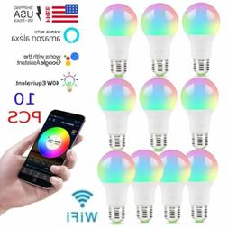 10 wifi Dimmable LED Smart Bulbs 16 RGB with Alexa Home Kit