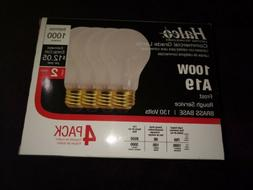 100 W Commercial Grade  light bulbs Halco A19 frost 4 pack