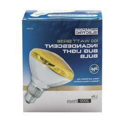 100 Watt BR38 BUG YELLOW FLOOD light BULB Indoor Outdoor Use