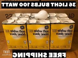 100 Watt Soft White Incandescent Light Bulbs 9 PACKS 4 Bulbs