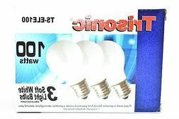 100 Watts Soft White Light Bulbs, 3-ct.