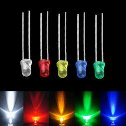 100pcs 3mm 5 color led light bulb