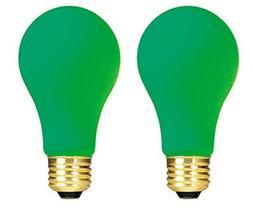 Bulbrite 106460 60W Ceramic Green A19 Bulb - 2 Pack