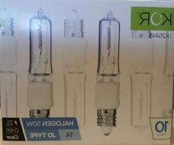 10Pack Kor Lighting Halogen JD E11 T4 50W 120V Mini Can Bulb