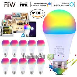 10Pack WiFi Smart Light Bulb Bulbs Dimmable LED E27 Google H