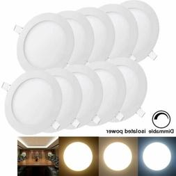 10pcs 12W Dimmable LED Recessed Ceiling Panel Down Light Bul
