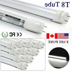 10PCS 4FT 120CM LED T8 20W Integrated Tube Light Bulbs 6000K