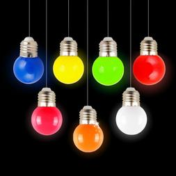 10PCS Color E27 1W Small LED Light Bulbs XMAS Mini Energy Sa