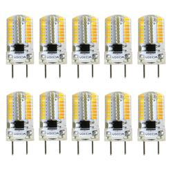 10pcs G8 Bi-Pin T5 64 3014 Dimmable LED Light Bulb Silicone