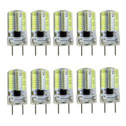 10pcs G8 Bi-Pin T5 Lights 64 3014 LED Light Bulb Dimmable La
