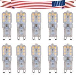 10pcs g9 5w led dimmable capsule bulb