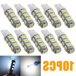 10pcs T10 5050 13SMD Wedge Bulb cool white LED for Malibu 12