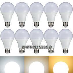 10X 7W Soft Warm White LED Light Bulbs A-Shaped A19 A21 EQ.6