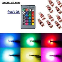 10X  RGB color changing LED landscape light fits all T10 bul