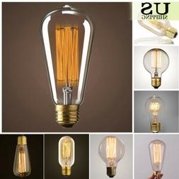 110V 40W 60W Filament Light Bulbs Vintage Retro Industrial S