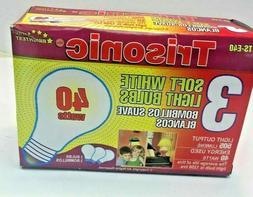 40W A19 Soft White 120V  Incandescent Light Bulbs  Rough Ser