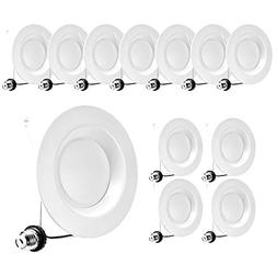 12 Pack - Hykolity 5/6 Inch LED Can Lights, 15W 120W Replace