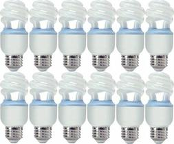 12 GE Reveal CFL 10 Watt Spiral Light Bulb with Medium Base,