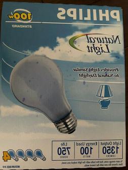 12 - PHILIPS Natural Light Bulbs 100 Watt A19 Incandescent