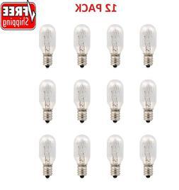 12 Pack 25 Watt Himalayan Salt Lamp Bulbs E12 Socket Replace