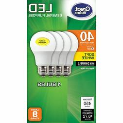 12 Pack LED 40W = 6W Soft White 40 Watt Equivalent A19 2700K