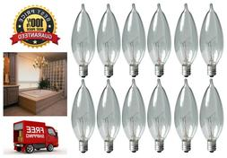 12 Pack GE Lighting Bent Tip Light Bulb w/ Candelabra Base C