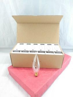 12-pack of 60 Watt Flame Tip Chandelier Light Bulbs E12 Cand