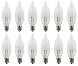 12 Pack - Replacement Flame Light Bulbs for Electric Window