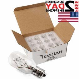 12 Pack Salt Lamp Bulbs 25 Watt E12 Socket, Light Bulbs for