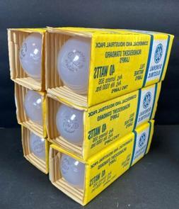 12 GE Standard Incandescent Light Bulbs 40W NOS