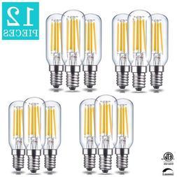 12PCS T25 E12 LED Filament Bulbs Dimmable Candelabra 3000K 4