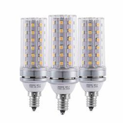 12W E12 Corn LED Candelabra Bulbs Decorative Candle Base 120