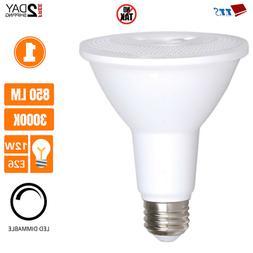 12W PAR30 Dimmable Security Outdoor LED Flood Light Bulb Lon