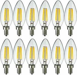 12x MaxLite LED Chandelier Bulbs 4W Enclosed Fixture Rated D